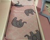 Bed Mattress For Little Tikes Dollhouse- Fits Vintage & Grandparents House- pink elephants