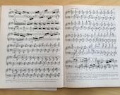 Vintage Sheet Music 50 pages paper craft supplies collage mixed media paper ephemera