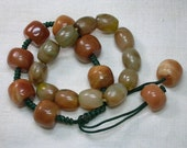 Vintage Chinese Bracelets: Red Jade & Carnelian, Lot of 2