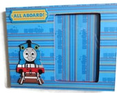 Personalized Thomas the Train Picture Frame 4 x 6 Wood Children's Frame