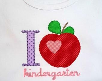 Girls I Love School preschool kindergarten 1st grade second grade third grade 4th grade shirt