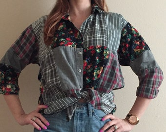 At Last Patchwork Button-up