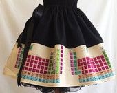 Periodic Table Skirt Geek Skirts Nerd Skirts Science Skirts clothing By Rooby Lane