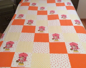 vintage strawberry shortcake twin fitted sheet