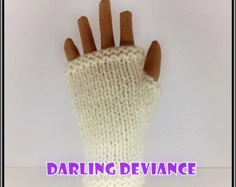 Fingerless Gloves - Off White