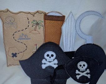 Pirate Felt Play Set