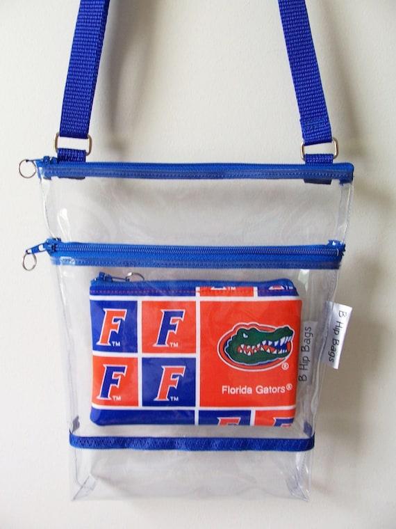 Clear Transparent Vinyl Florida Gators Coin Purse Set Stadium