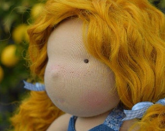 Waldorf doll- Steiner doll- handmade doll- cloth doll- fibre art dolls- waldorf toy by Debs Steiner Dolls. DEPOSIT for JULY  '17 custom doll