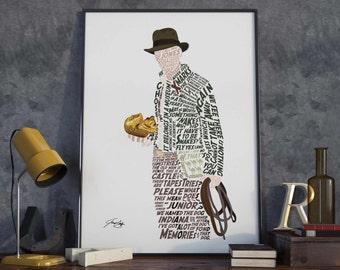 Indiana Jones Typography Poster Printable PDF