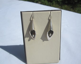 Sterling Calla Lily Earrings