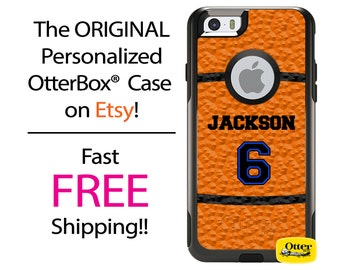 iPhone OtterBox Commuter Case for iPhone 7, 7 Plus, 6/6s, 6 Plus/6s Plus, 5/5s/SE, 5c Galaxy S7 S6 S5 Note 5 Custom Basketball Sports Phone