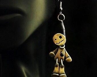 Sterling Silver Voodoo Doll Earrings