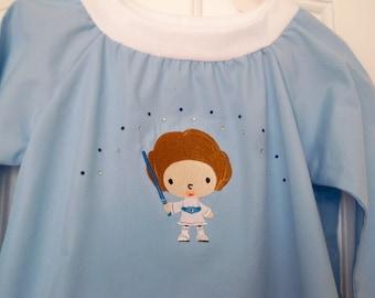 Princess Leia toddler gown Thumper Tigger Star Wars nightgwn