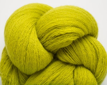 Poison Green Recycled Lace Weight Extra Fine Grade Merino, 2032 Yards Available