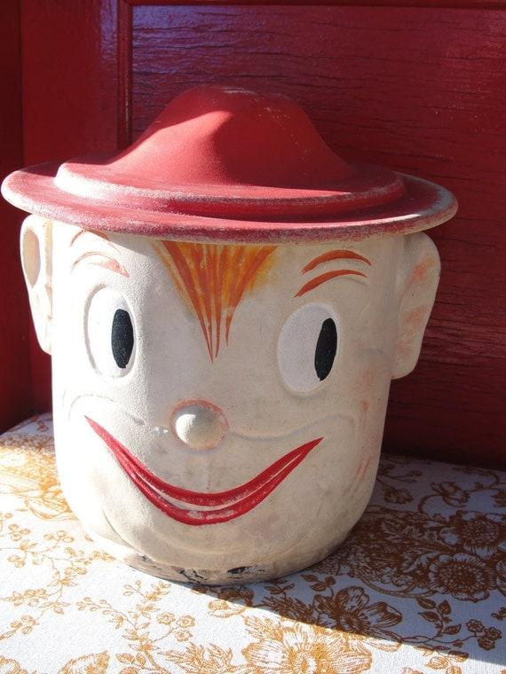 Oscar Cookie Jar Aka Smiling Elf Red Head Scout
