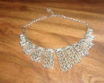 vintage necklace silvertone choker sarah coventry