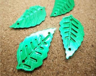 Green Sequin Leaves-24x12mm-50 PCS