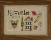 NEW Yearbook Double Flip Series INCLUDES charms : November December September October Lizzie Kate cross stitch patterns