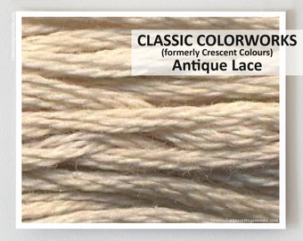 ANTIQUE LACE  : Classic Colorworks hand-dyed embroidery floss cross stitch thread at thecottageneedle.com