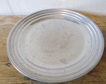 American Wilton Pewter Plate, RWP Serving Tray, Industrial Center Piece Dish