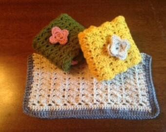 Flowers & Shells Baby Blanket / Lovey