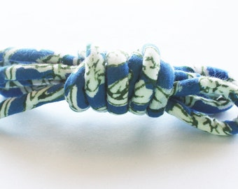 India fabric, fabric cord, textile cord, fabric jewelry, textile jewelry, diy jewelry, diy necklace, diy bracelet i30