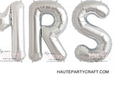 MRS SILVER Foil Mylar Balloons (2 day sale)