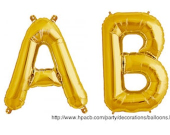 "Baby Balloon 16"" or 34"" Gold Foil Mylar (Read or Contact Us First)"