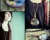 "macrame spirit pixie fairy necklace ""tiger eye"" crystal healing gypsy pendant gemstone"