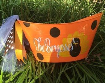 Personalized Fall/Thanksgiving Tub/Hostess Gift