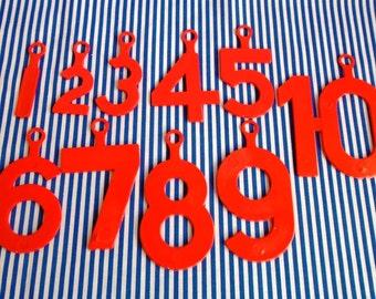 Vintage Lot 10 Plastic Numbers