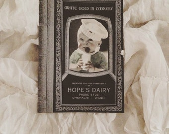 Vintage White Gold in Cookery Cook Book