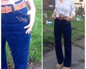 70s Embroidered Wrangler High-Waisted Bellbottoms - Bohemian Country Chic