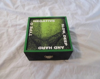 Type O Negative Slow Deep And Hard Keepsake Stash Storage Box