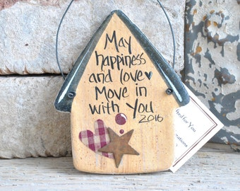 Housewarming New Neighbor Gift Salt Dough Ornament