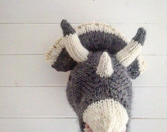 Triceratops Trophy knitting pattern