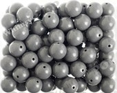 20mm - 10 PACK of Gray 20mm Gumball Beads, Chunky Acrylic Beads, 20mm Chunky Beads, 20mm Beads, Bubble Gum Beads, 2MM Hole