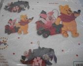 Pooh, Piglet, Eeyore & Roo Felt Applique Ornaments
