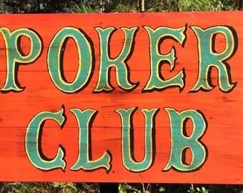 Poker Club - sign