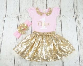 pink and gold birthday outfit, first birthday, second birthday outfit, girls tutu, tutu, girls birthday tutu outfit, first birthday outfit