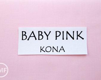 One Yard Baby Pink Kona Cotton Solid Fabric from Robert Kaufman, K001-189