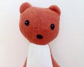 Wyatt the Least Weasel, plush weasel, weasel, weasel stuffed animal, organic toy, organic plush animal, woodland, nursery, woodland animal