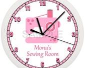 Personalized Seamstress SEWING MACHINE Wall Clock