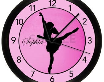 "Pink Ballerina WALL CLOCK 10"" Ask about other colors"
