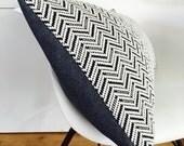 "Chevron Black and White Tribal Pillow Cover 14""x24"" Lumbar Cushion Pillow Ethnic Bohemian Black Zig Zag Aztec Motif Chevron Pillow"