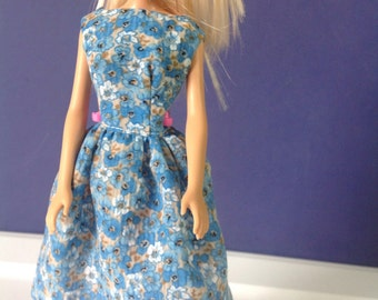 Modest Handmade 11-1/2 inch doll Scoopback Dress