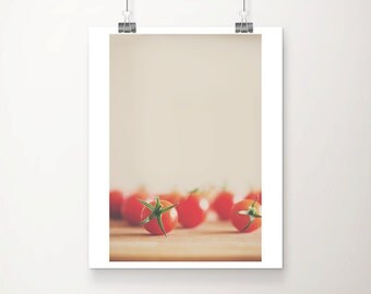 cherry tomato photograph food photography kitchen wall art vegetable photograph cherry tomato print rustic home decor