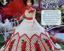 20%OFF The Needlecraft Shop REBECCA'S Party Frock Ladies of Fashion By Inez Collins Scott - Fashion Doll Crochet Pattern