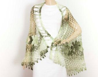 Crochet shawl scarf,Wedding shawl , crocheted shrug capelet wrap-