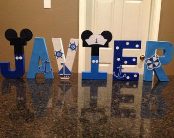 Nautical Mickey Mouse Custom Name Letters - price is per letter